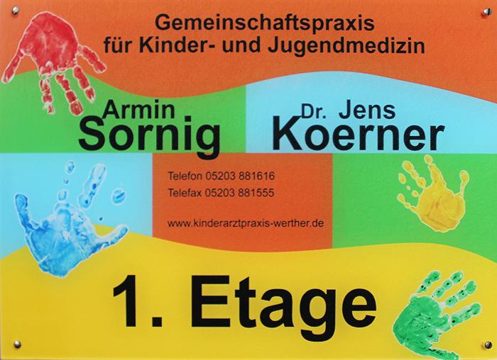Praxisschild - Gemeinschaftspraxis für Kinderheilkunde & Jugendmedizin in 33824 Werther